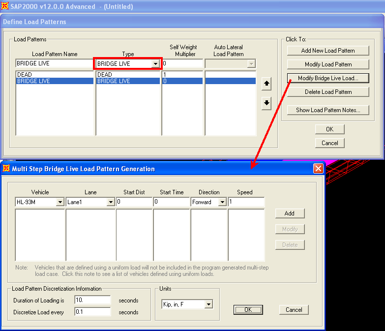 Step-by-step moving-load analysis first steps (SAP2000